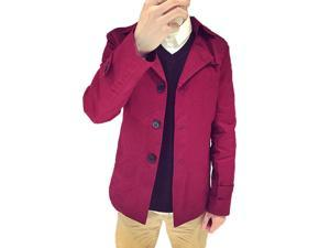 Shefetch Men's Fashion 2015 Latest Trends Mens Outerwear 8 Sizes Red 3XL