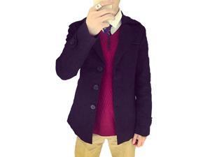 Shefetch Men's Fashion 2015 Latest Trends Mens Outerwear 8 Sizes Black 5XL