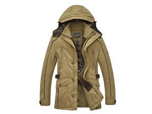 Shefetch Men's Autumn 2015 Fashion Casual 2 Colors 5 Sizes Mens Outerwear Khaki M