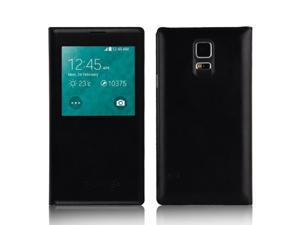 Samsung Galaxy S5 S 5 G900 i9600 S-View Waterproof Smart Chip Flip Case Cover - BLACK
