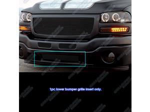 Fits 2003-2004 GMC Sierra 2500/ 2003-2006 Sierra 1500/2500HD Black Bumper Billet Grille Grill #G85473H