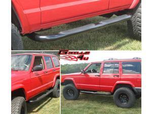 84-00 Jeep Cherokee Black Side Step Nerf Bars