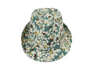 Summer Beach Mens Womens Unisex Sun Hat Leafs Fedora Trilby Cotton Cap One Size