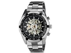 Winner TM340 Men's Stunning Automatic Mechanical Wrist Watch with Stainless Steel Band (Silver)