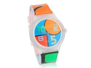 WILLIS Colorful Round Dial Women's Quartz Watch with Plastic Strap M.