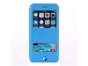 6 available colours for choosing double windows phone shell holster book flip phone case & cover for iphone6