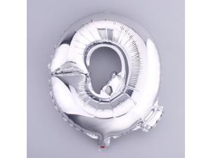 "1pc 16"" Foil Party Balloons Silver Alphabet Letters ""Q"" Wedding Birthday Decor"