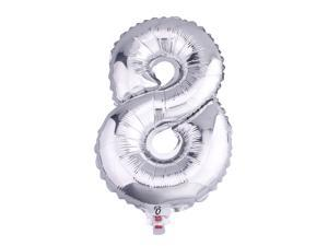 1pcs 32'' Silver Numbers '8' Mylar Foil Balloon Spelling Words For Wedding Holiday Decor