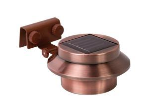 Rethink 155015 Multi-purpose Gutter/fence Solar Light 2 Pk (copper)