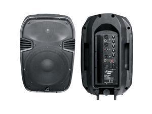 600 Watts 10'' Powered 2 Way Plastic Molded Speaker System