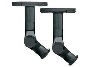 SANUS WMS3B BLACK Indoor/Outdoor Wall or Ceiling Speaker Mounts (Black)