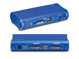 TRENDnet 2-port DVI USB Kvm Switch Kit - TK-204UK