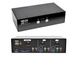 Tripp Lite 2 Port Dp Kvm Switch With Audio - B004-DPUA2-K