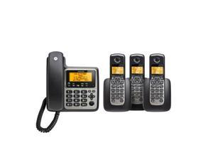 Corded/Cordless 3 Handsets Answering Sys - MOTO-M804C