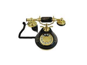 8809-HT Porcelain Phone BLACK - PORCELAIN-BLACK