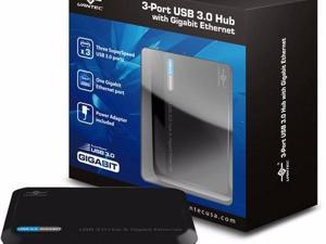VANTEC 3-PORT USB 3.0 HUB WITH GIGABIT E - UGT-MH330GNA