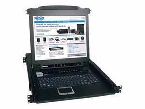 """Tripp Lite Netdirector Console Kvm Switch With 17"""" Lcd - Kvm Switch - 8 Ports - Rack-mountable - B020-008-17"""