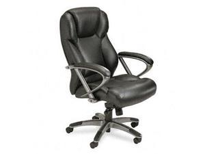Mayline Leather Seating High-Back Chair - MLNUL350HBLK