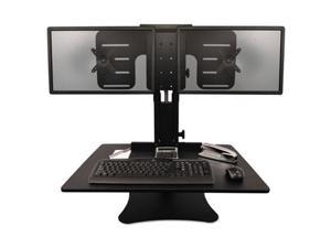 Victor DC350 High Rise Collection Dual Monitor Sit-Stand Desk Converter - VCTDC350