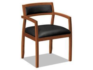 Basyx VL850 Series Leather Guest Chair - BSXVL852HSB11
