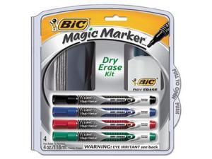 BIC Magic Marker Brand Low Odor AND Bold Writing Dry Erase Marker Kit - BICDEPKITP61