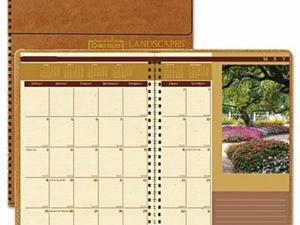 House of Doolittle Landscapes 100% Recycled Full-Color Ruled Monthly Planner - HOD524