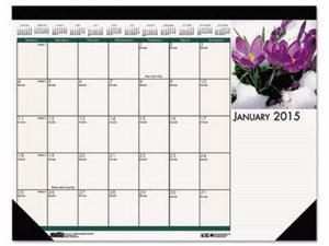 House of Doolittle Earthscapes 100% Recycled Floral Monthly Desk Pad Calendar - HOD1596