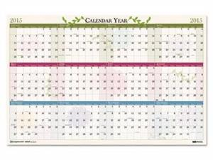 House of Doolittle Floral Reversible/Erasable 100% Recycled Yearly Wall Calendar - HOD3984