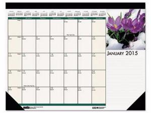 House of Doolittle Earthscapes 100% Recycled Floral Monthly Desk Pad Calendar - HOD159