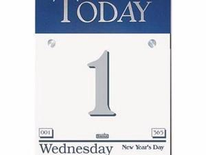 House of Doolittle 100% Recycled Today Wall Calendar Refill - HOD311
