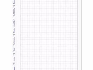 Blueline MiracleBind Quad Ruled Refill Sheets - REDAFQ9050R