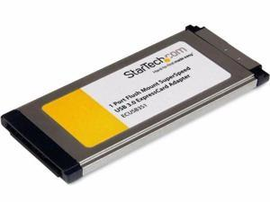 1x Flush Mount ExpressCard USB 3 Card - ECUSB3S11