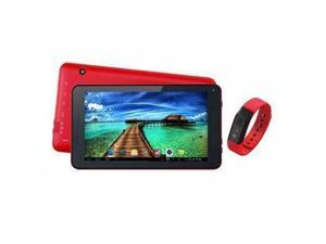 "7"" Tablet And Red Fitband - SC-6207FitRD"