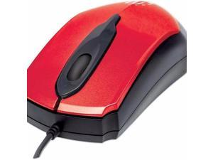 USB WIRED MOUSE/RED - 179430