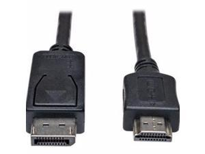 Tripp Lite 3Ft Displayport To Hd Cable Adapter Converter Dp M/M 3' - Video Cable - Displayport / Hdmi - 3 Ft - P582-003