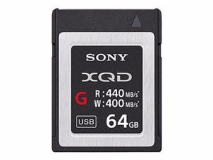 SONY G-SERIES QD-G64E - FLASH MEMORY CARD - 64 GB - XQD-QDG64E/J
