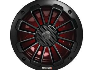 "MB Quart NK1-116LB Nautic Series 6.5"" 120-Watt 2-Way Coaxial Speaker System with Matte Black Finish (With LED Illumination)"
