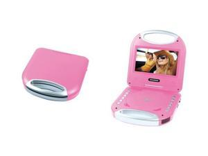 "SYLVANIA SDVD7049-PINK 7"" Portable DVD Player with Integrated Handle (Pink)"