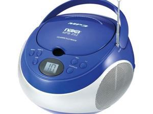 Naxa Npb252Bl Portable Cd/Mp3 Player With Am/Fm Stereo ,Blue