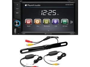 "6.2"" Double-DIN In-Dash Touchscreen DVD Receiver with Bluetooth(R) & Back-up Camera - P9628BWRC"