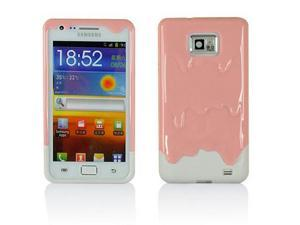 Demarkt® Pink with White Melt ice-Cream Skin Hard Case Cover for Samsung Galaxy i9100 Protect Case