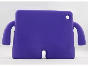 Demarkt® Water Proof Human shape Silicone Rubber Gel Soft Skin Case Cover for Ipad Mini--Purple