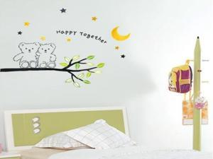 Demarkt Two Little Bear Pattern Home Decor Wall Paper Wall Stickers Wall Mural Decal Stickers For Room Living Room Bedroom