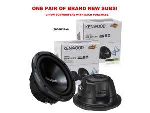 "TWO Kenwood KFC-W2513PS 10"" 4ohm 2000w Pair Car Subs Subwoofer New KFCW2513PS X2"