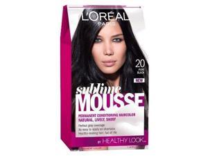 L'Oreal Healthy Look Sublime Mousse Hair Color, 20 Pure Black