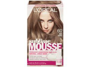 L'Oreal Healthy Look Sublime Mousse Hair Color, 60 Pure Light Brown