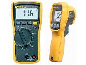 Fluke 116/62 Max+ 116 HVAC Multimeter and 62 MAX+ Infrared Thermometer