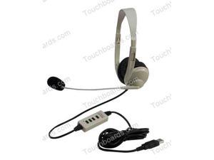 Multimedia Stereo Headphones with Boom Microphone - USB