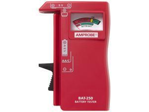 AMPROBE BAT-250 Battery Tester, Analog, 1.5 to 9V