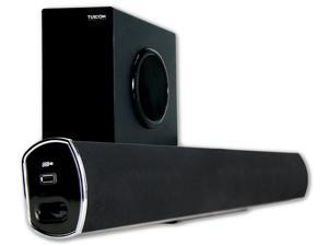 Turcom TS-404 160-Watt 2.1 Channel Home Theater Surround Sound Bluetooth Soundbar with Wireless Subwoofer